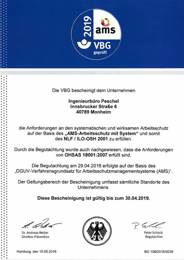 AMS_Bescheinigung_Ingenieurbuero Peschel Monheim_30.04.2019